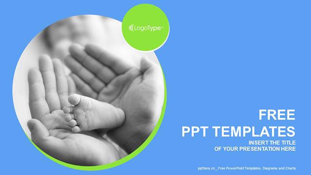 抚摸宝宝的小脚PPT模板下载_预览图4