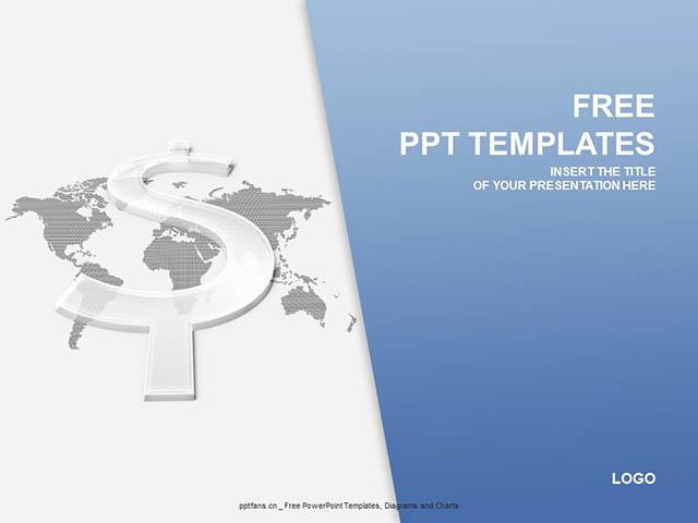透明的美元符号PPT模板下载_预览图1