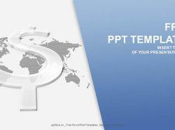 透明的美元符号PPT模板下载