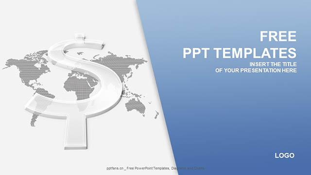 透明的美元符号PPT模板下载_预览图4