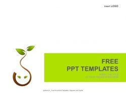 树叶PPT模板下载
