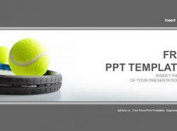 网球和网球拍PPT模板下载
