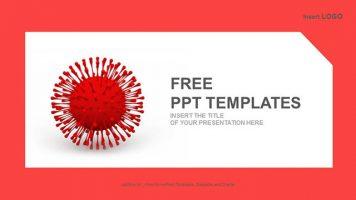 红色病毒PPT模板下载