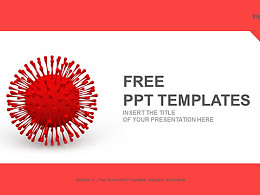 紅色病毒PPT模板下載
