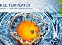 水中的橘子PPT模板下载