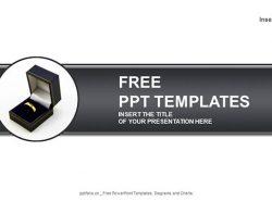 结婚戒指PPT模板下载
