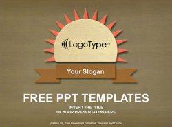 木质纹理PPT模板下载