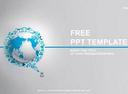 现代通讯PPT模板下载