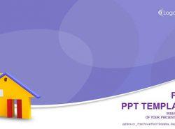黄色的小屋/房地产行业PPT模板下载
