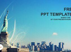 自由女神像PPT模板下载