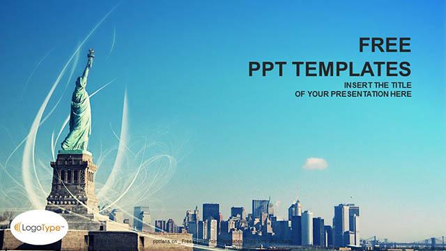 自由女神像PPT模板下载_预览图4