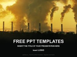工业废气污染PPT模板下载