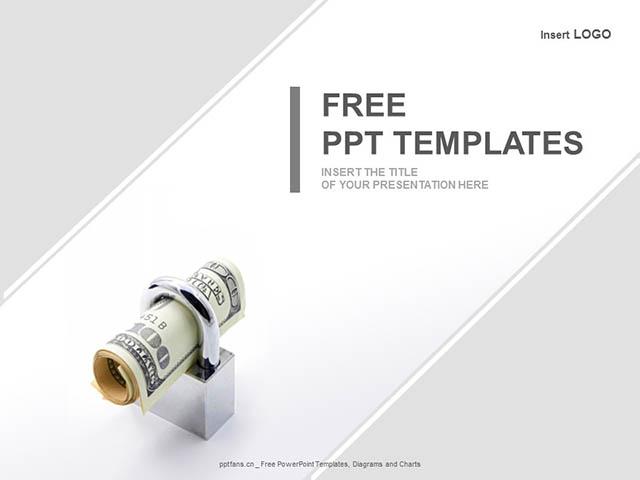 保险理财的优势PPT模板_预览图1