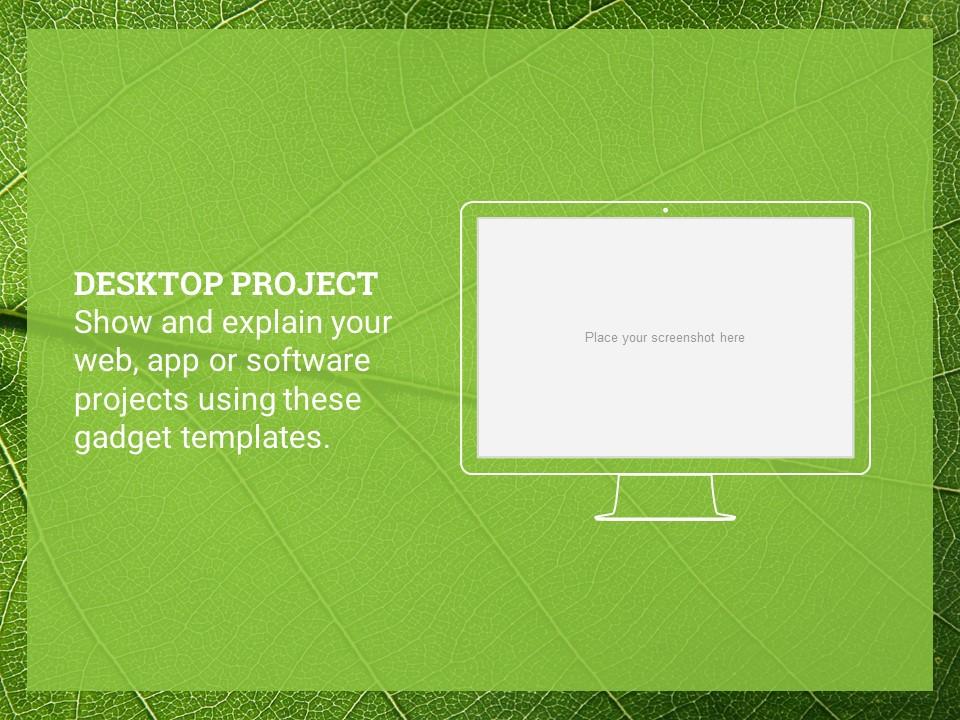 简约绿叶风格优质商务PPT模板_预览图23