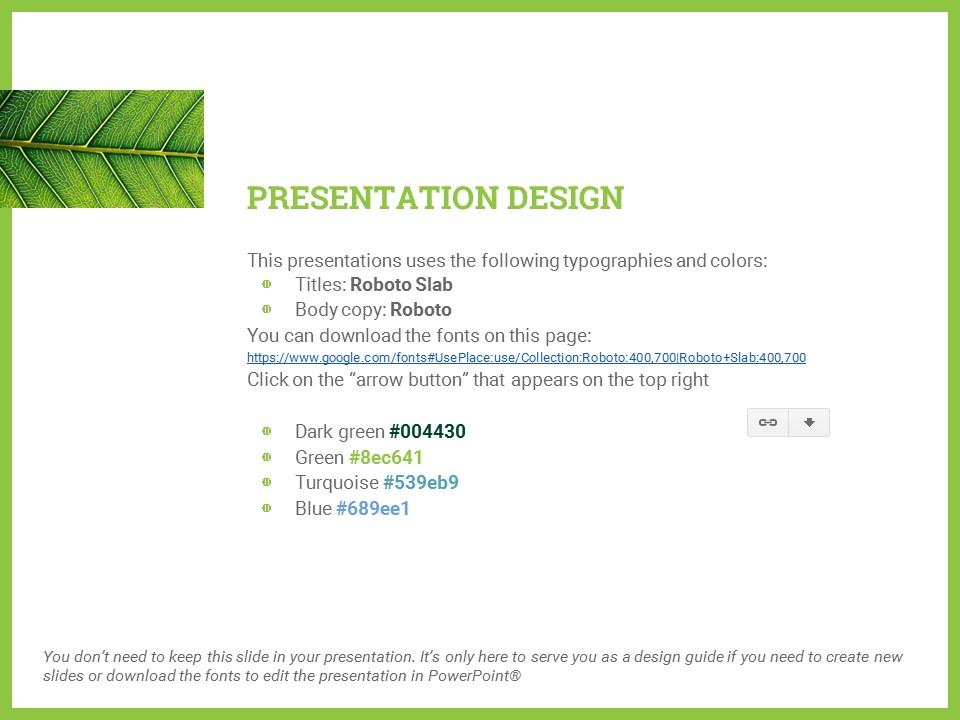 简约绿叶风格优质商务PPT模板_预览图26