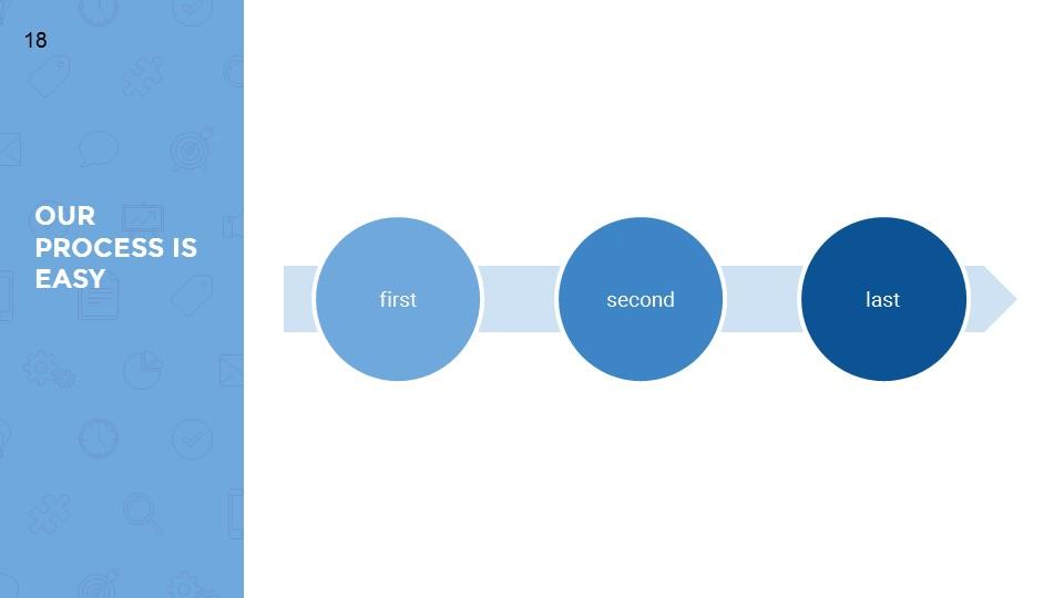 蓝色超实用简洁汇报总结用商务PPT下载_预览图18