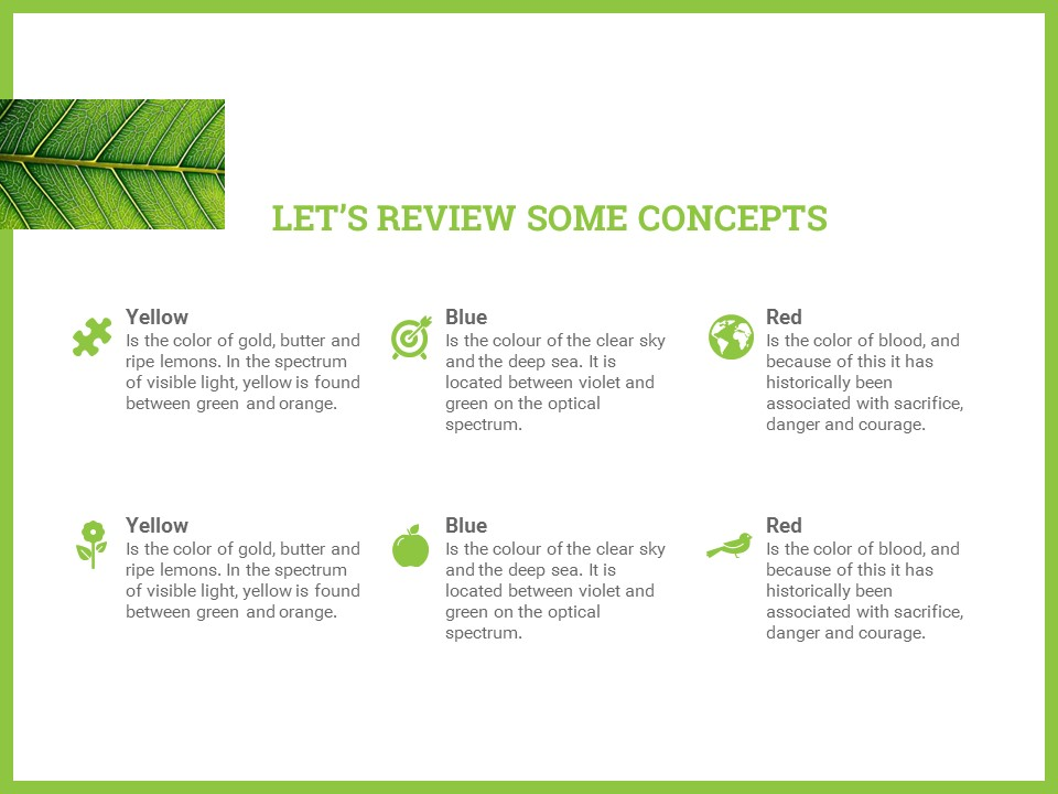 简约绿叶风格优质商务PPT模板_预览图18