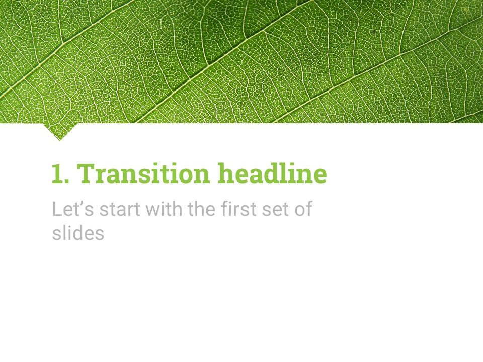 简约绿叶风格优质商务PPT模板_预览图4