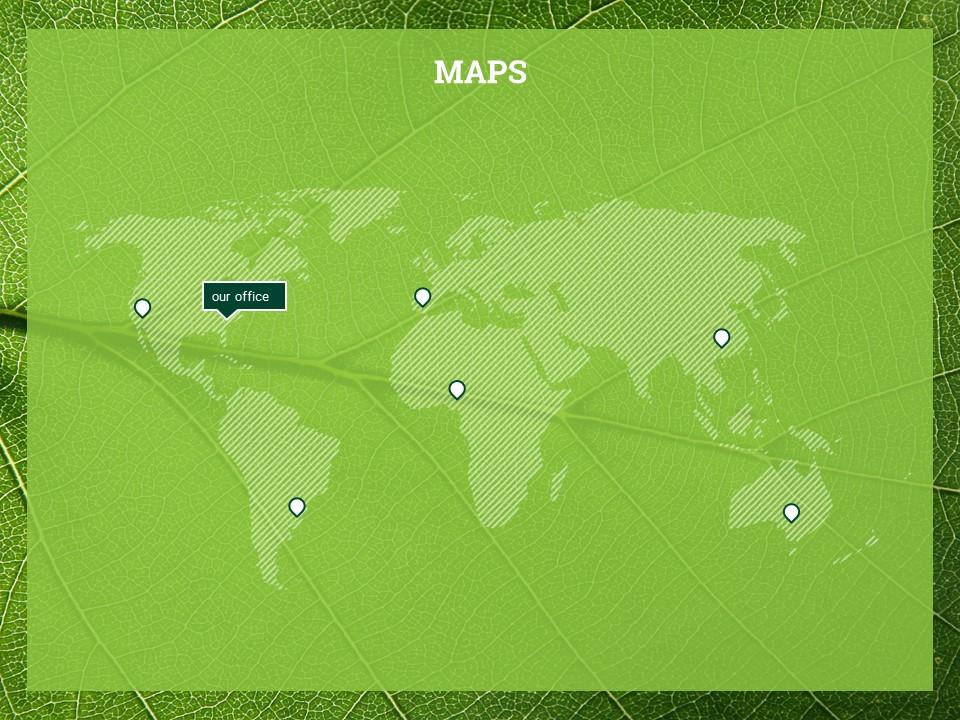 简约绿叶风格优质商务PPT模板_预览图14