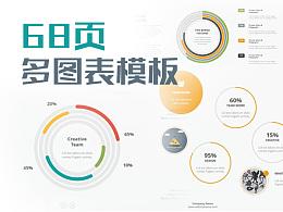 68頁多圖表歐美OS扁平化簡約時尚設計風格動畫PPT模板