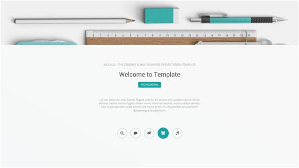68页多图表欧美OS扁平化简约时尚设计风格动画PPT模板