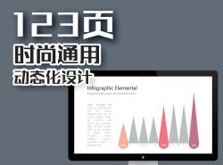 123页极具创意的商务清新风设计动画PPT模板