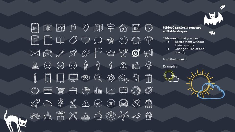 多彩万圣节主题纯色powerpoint模板下载_预览图27
