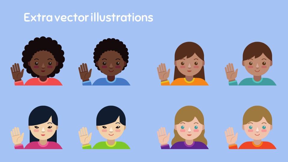 卡通人物对话框PPT模板下载_预览图27