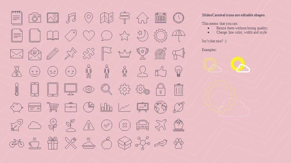 可爱粉色系粉红灰线条背景商务/个人总结汇报PPT模板下载_预览图27