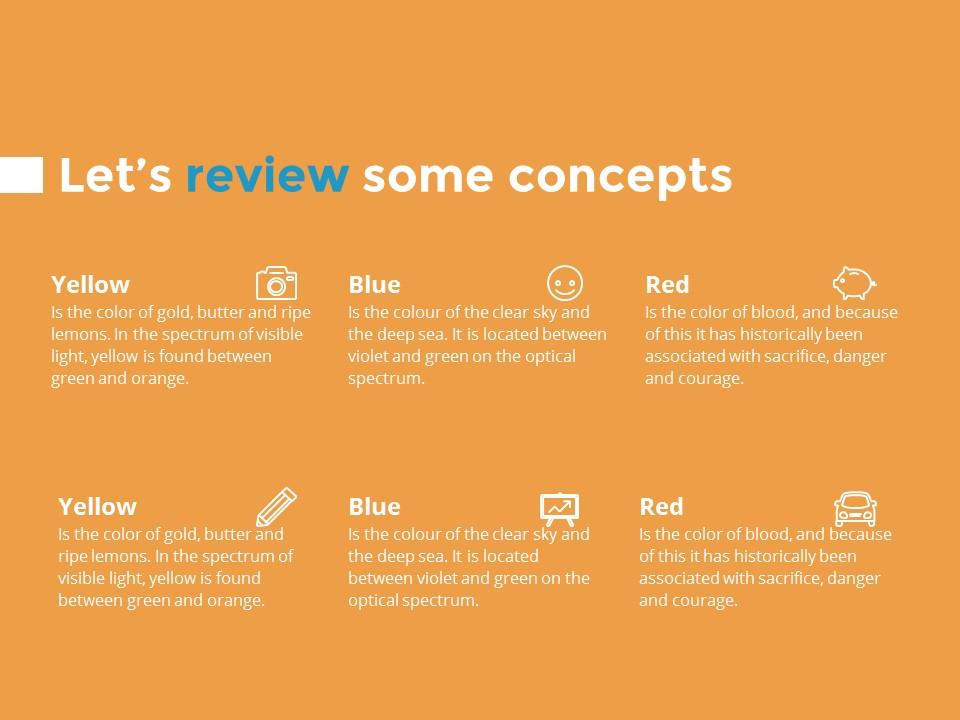 蓝色橙色交替的简洁欧美范PPT模板下载_预览图19