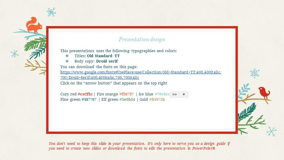 圣诞节插画风彩色PPT模板下载_预览图24