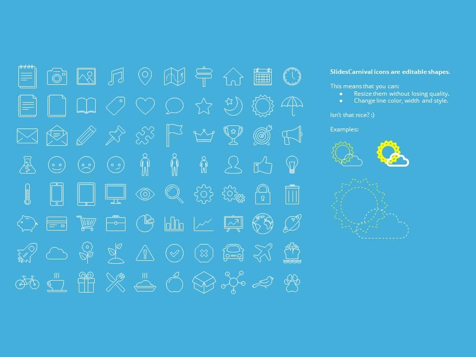 蓝色橙色交替的简洁欧美范PPT模板下载_预览图28