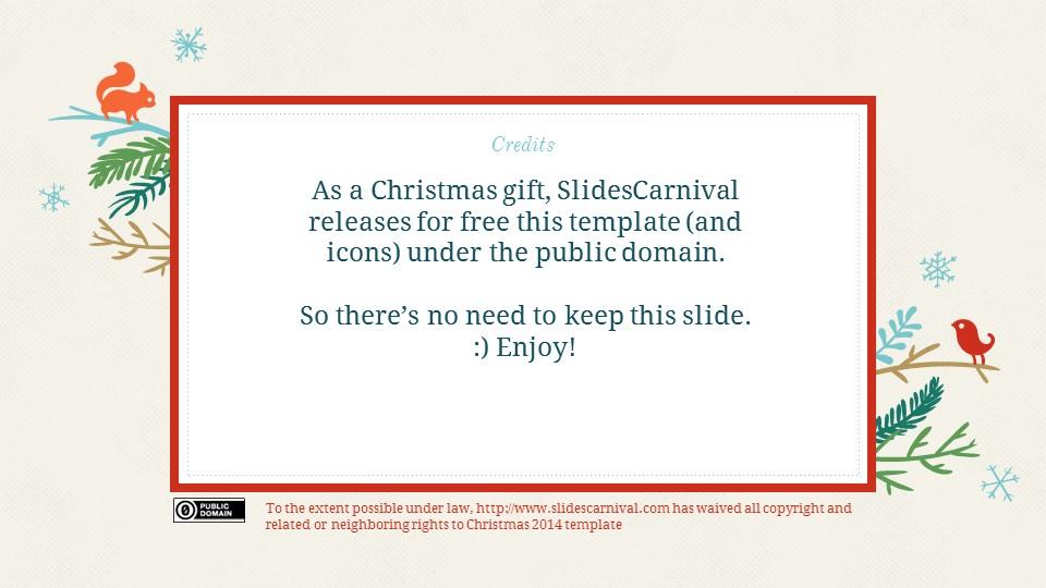 圣诞节插画风彩色PPT模板下载_预览图23