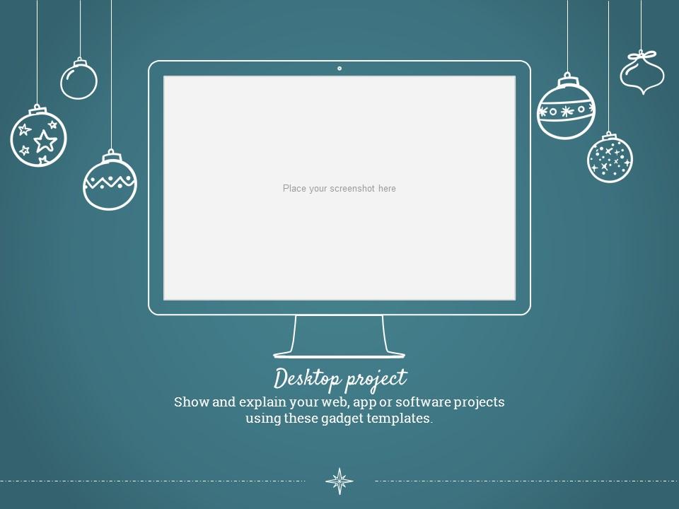 圣诞节卡通线条画红蓝交替背景幻灯片模板下载_预览图21