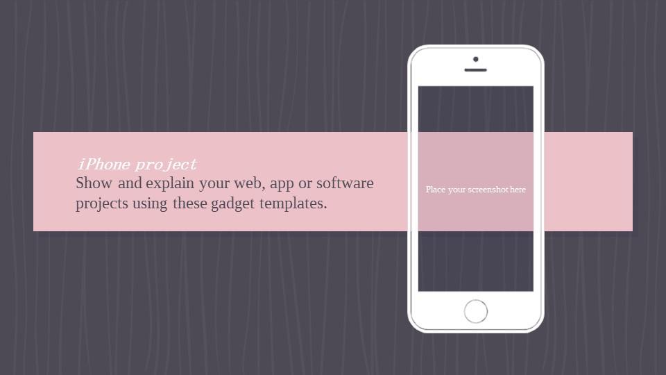 可爱粉色系粉红灰线条背景商务/个人总结汇报PPT模板下载_预览图21