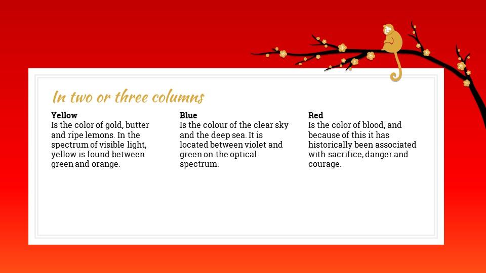 猴年春节中国红背景梅花PPT模板_预览图9