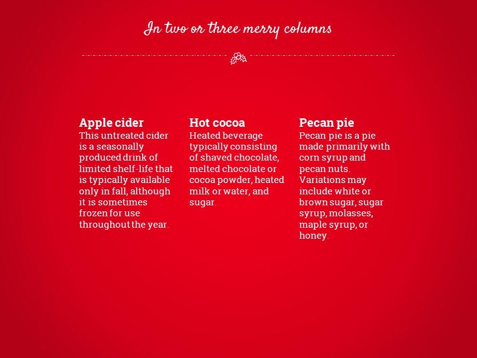 圣诞节卡通线条画红蓝交替背景幻灯片模板下载_预览图9