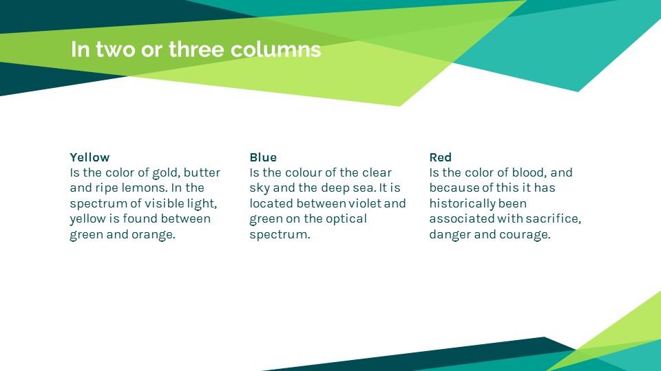 蓝绿色简约商务专用幻灯片模板_预览图9