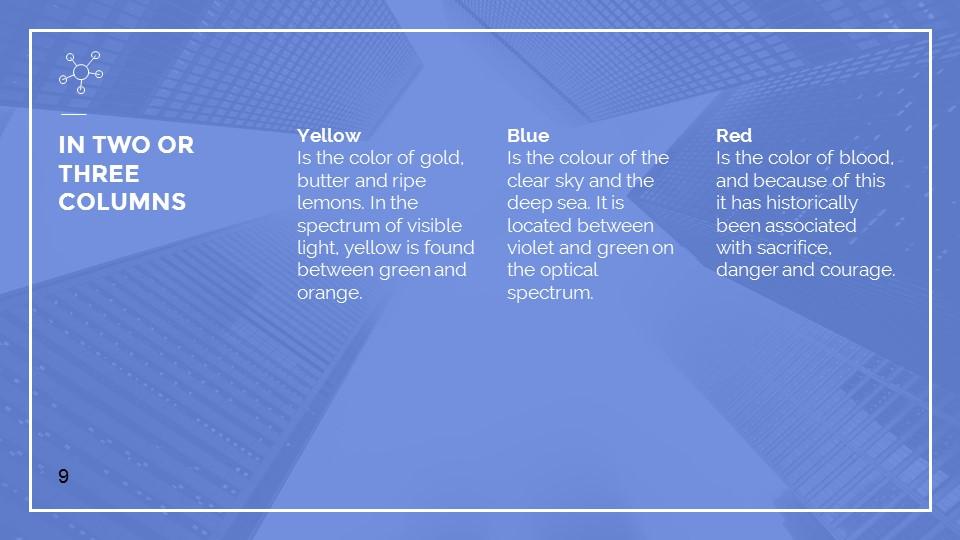 蓝色建筑线条风格汇报PPT模板下载_预览图9