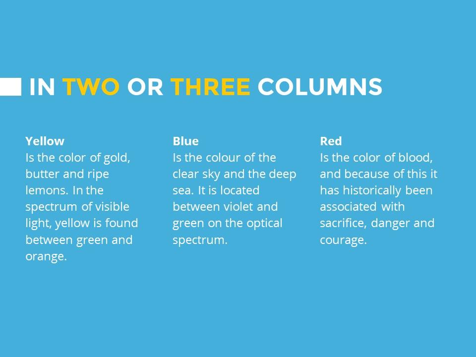 蓝色橙色交替的简洁欧美范PPT模板下载_预览图9