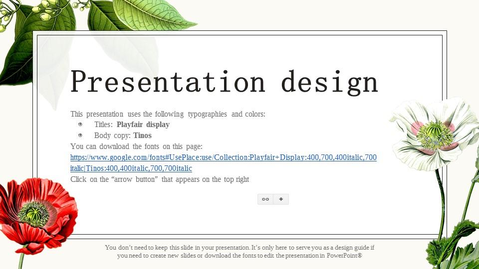 花草彩绘图案风格PPT模板下载_预览图26