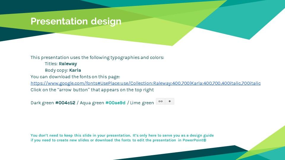 蓝绿色简约商务专用幻灯片模板_预览图26