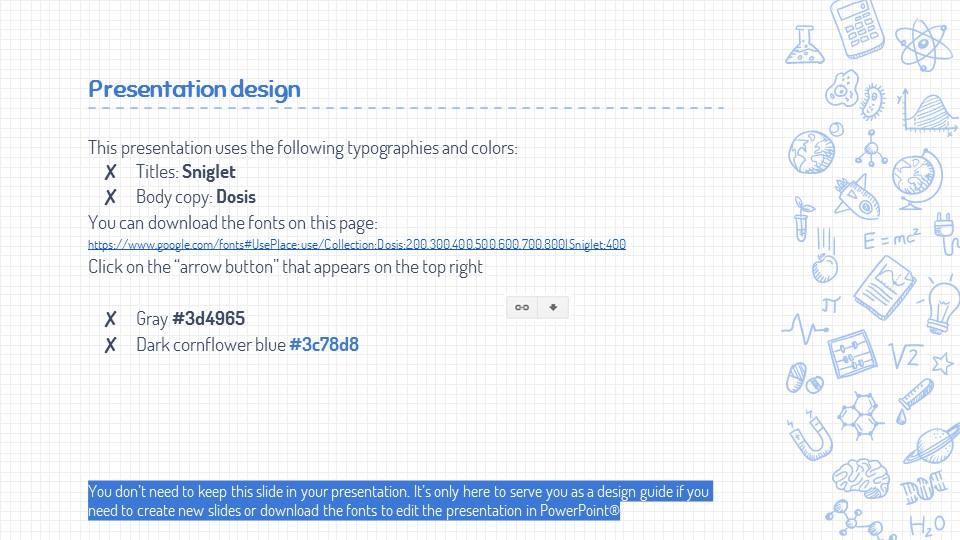 可爱线条画蓝色网格背景PPT模板下载_预览图26