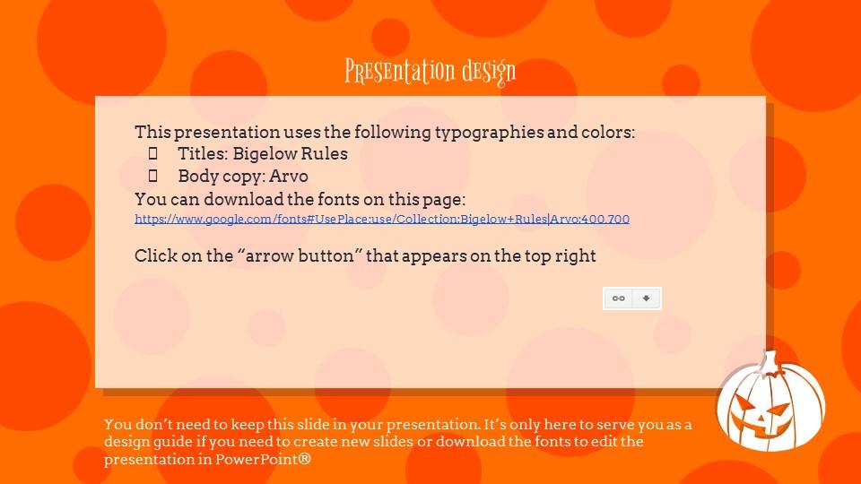 多彩万圣节主题纯色powerpoint模板下载_预览图26