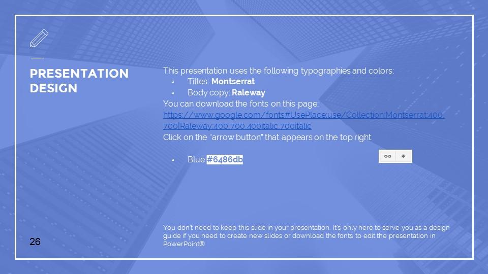 蓝色建筑线条风格汇报PPT模板下载_预览图26