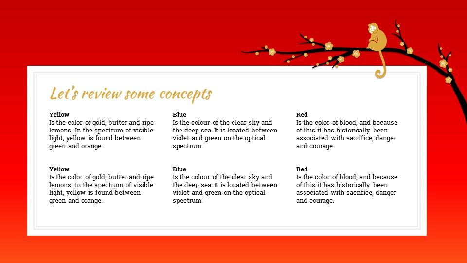 猴年春节中国红背景梅花PPT模板_预览图18