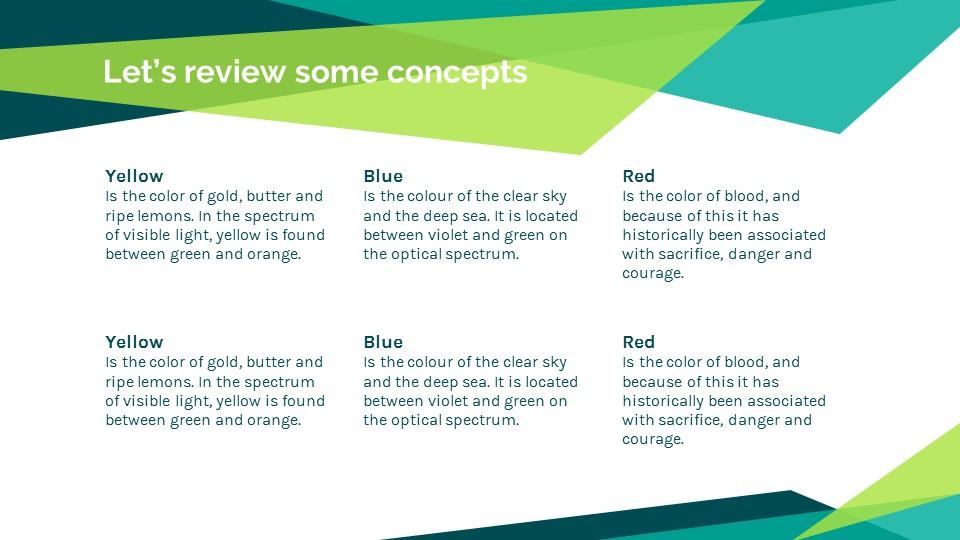 蓝绿色简约商务专用幻灯片模板_预览图18