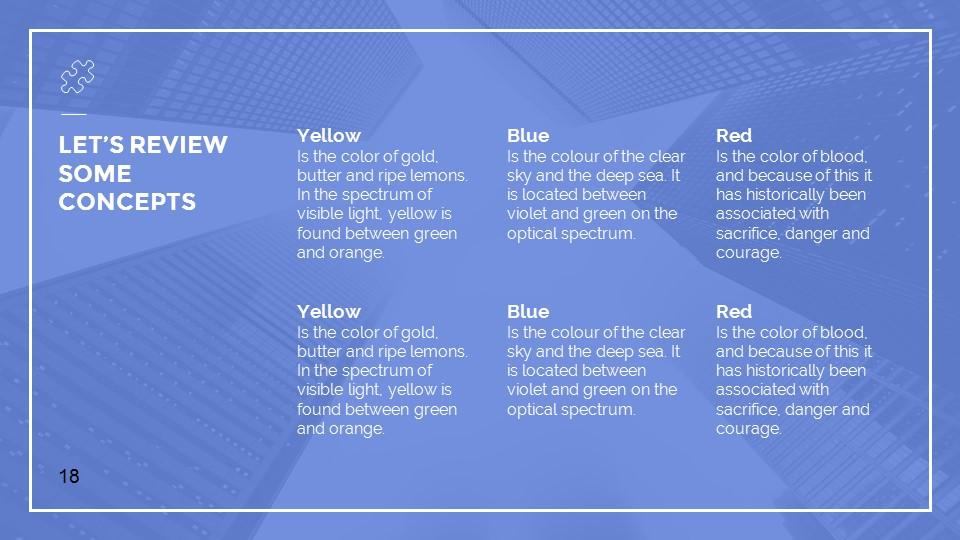 蓝色建筑线条风格汇报PPT模板下载_预览图18