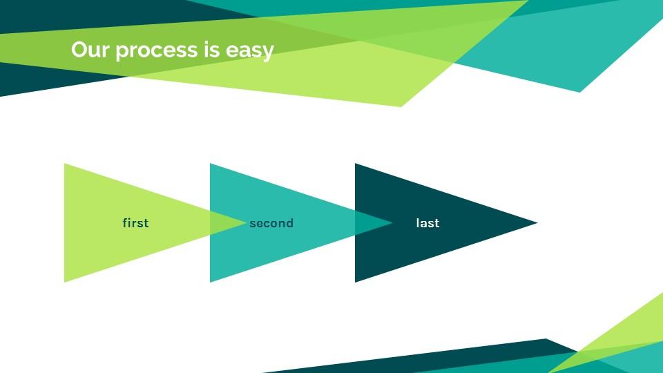 蓝绿色简约商务专用幻灯片模板_预览图17