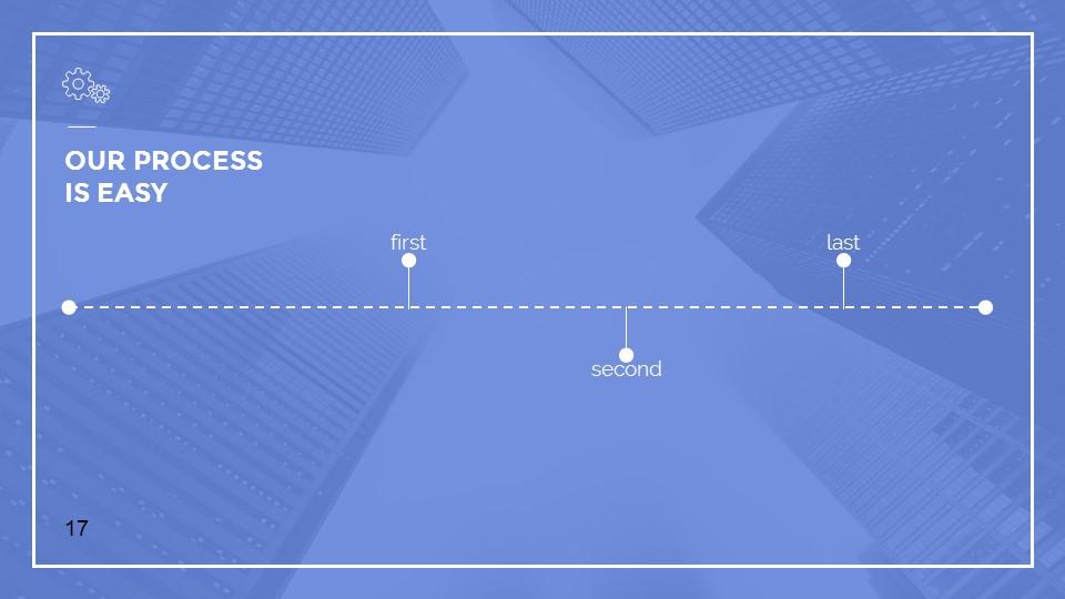 蓝色建筑线条风格汇报PPT模板下载_预览图17
